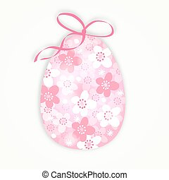 Cute easter card with floral egg