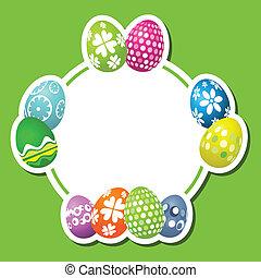Cute Easter egg background