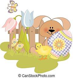 Cute Easter illustration