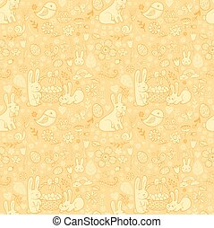 Cute Easter seamless pattern