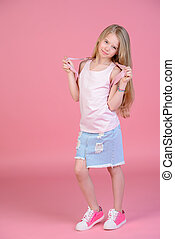 cute eight year old girl - Children's fashion. Cute eight...
