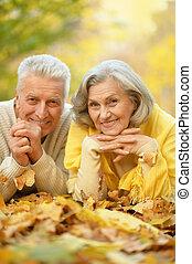 Cute elderly couple