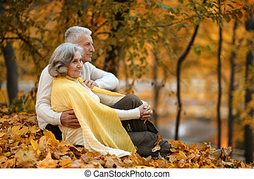 Cute elderly couple
