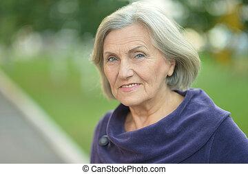 Cute elderly woman