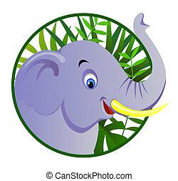 cute, elefante