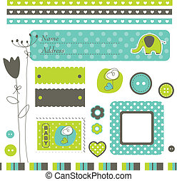 Cute elements for scrapbook, cards