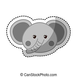 cute elephant animal icon
