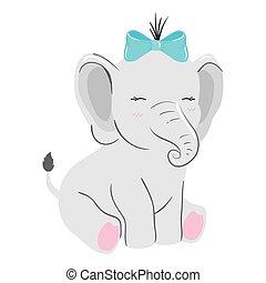 cute elephant animal isolated icon