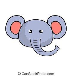 cute elephant animal kawaii style