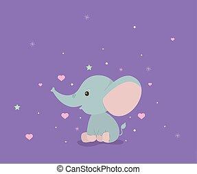 Cute elephant cartoon vector design
