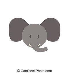 Cute elephant face