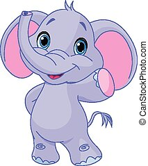 Illustration of very cute elephant