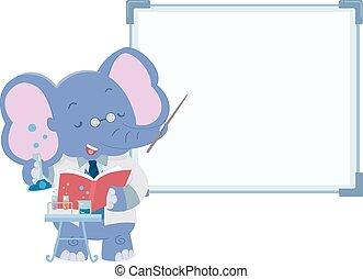 Cute Elephant Lab Teacher