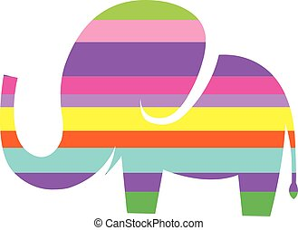 cute elephant vector cartoon