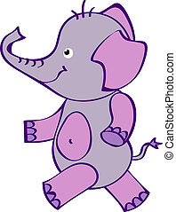Cute Elephant - Vector File EPS10 H