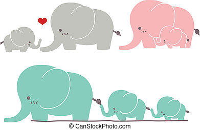 Cute Elephant - Vector File EPS10