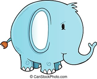 Cute Elephant Vector Illustration