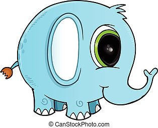Cute Elephant Vector Illustration