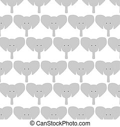 cute elephants heads pattern background