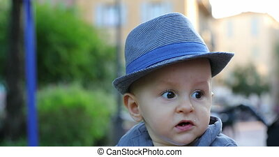 Cute Eleven Month Old Baby Boy With His Italian Hat