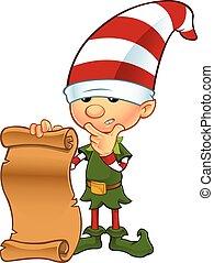 Cute Elf - Holding List