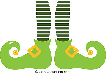 Cute elvish legs for Saint Patrick's Day isolated on white
