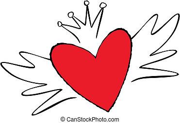 cute emo heart