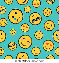 Cute emoji designs Seamless pattern - Seamless pattern with...