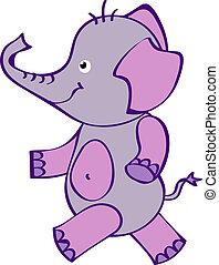 cute, eps10, h, -, vetorial, arquivo, elefante