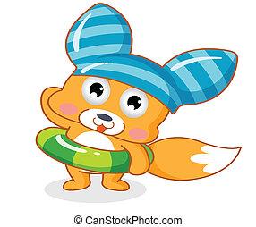cute, esquilo, caricatura