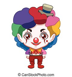 Cute evil clown illustration