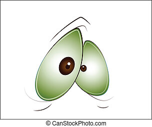 Cute Eye - Lovely Design Art of Cute Eye Vector Illustration