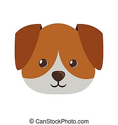 cute face doggy pet icon