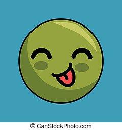 cute face kawaii style
