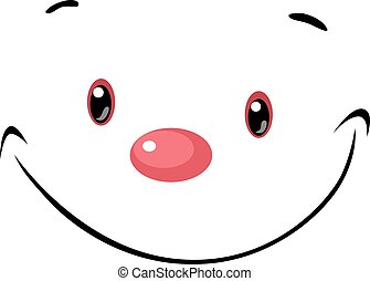 cute face - vector cartoon illustration