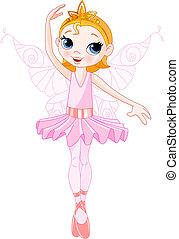 cute, fada, bailarina