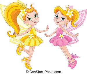 cute, fairies, to