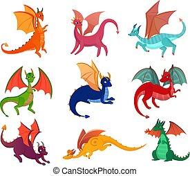 Cute Fairy Dragons Set
