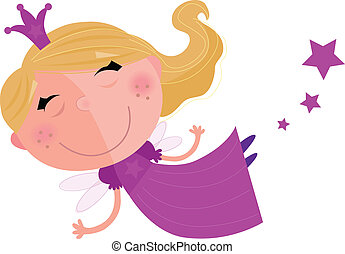 Cute Fairy Princess Character - Tooth fairy, princes or...