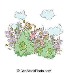 cute fairytale bush icon