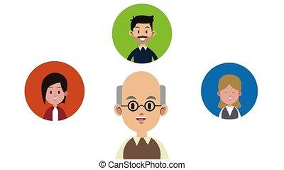 Cute family cartoon HD animation