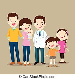 Cute Family with Baby and Doctor - Cute family visiting the...