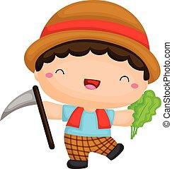Cute Farmer Boy