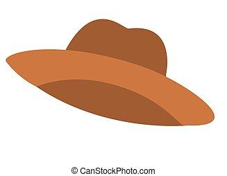 cute farmer hat isolated icon