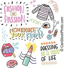 cute fashion doodle