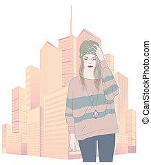 Cute fashion girl