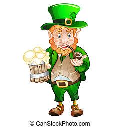 Cute fat Leprechaun. St. Patrick's