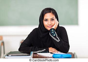 cute female Arabic high school student