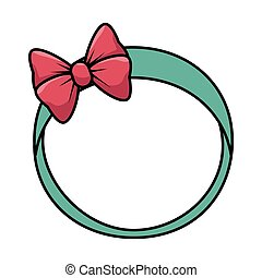 cute female headband icon
