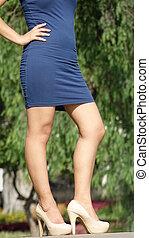 Cute Female Legs And High Heels
